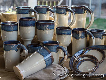 New Beginnings Pottery Mugs